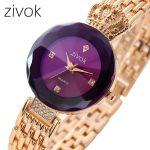 Zivok 2018 Fashion Quartz Women Watches Rose Gold Luxury Ladies Watch <b>Silver</b> Waterproof Wrist Watches For Women Clock