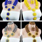 High Quality Party African Beads <b>Jewelry</b> Sets <b>Handmade</b> Nigerican Wedding Bride Jewewlry Set African Star Performance <b>Jewelry</b> Set