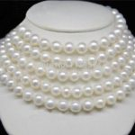 Wholesale natural 10mm hot new charming AAA white Akoya pearl shell necklace Hand Made Fashion <b>Jewelry</b> <b>Making</b> Design 50″ W0331