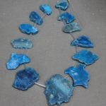 Wholesale 13pcs Blue Drusy Druzy Geode Gems Stone Necklace Finding, 2017 <b>Jewelry</b> <b>Making</b> Slice Pendant Necklace accessories