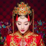 Chinese <b>Handmade</b> Bride Headdress Costume Coronet Tassel Wedding Hair Accessories Vintage Traditional Style Hairwear <b>Jewelry</b> Gift