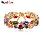 LZESHINE Bracelets & Bangles 2016 New Colorful AAA Zircon Charm Bracelet Gold Women Bracelet <b>Fashion</b> <b>Jewelry</b> Pulseira Feminina