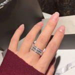Brand design 925 Sterling Silver <b>Jewelry</b> zircon ring fashion female <b>wedding</b> lover couple ring