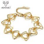 Viennois Gold Color Chain Bracelets & Bangles for Women Geometric Bracelet Metallic <b>Jewelry</b> Female Gold Color Link <b>Accessory</b>
