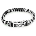 Vintage Solid 925 Sterling <b>Silver</b> Keel Thick Men <b>Bracelet</b>
