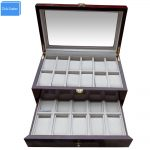 Watchcase Storage Luxury 22 Slots 2 Layer Wood Glossy Lacquer Watch Box <b>Jewelry</b> Collection Display Drop Shipping <b>Supply</b>