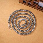 New Silver 925 Men <b>Jewelry</b> Vintage Punk 925 Sterling Silver Geometric Choker Statement <b>Necklaces</b> For Men Collar de hombres N215