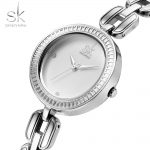 SK Extravagant Women Wrist Watches Brand Ladies <b>Silver</b> <b>Bracelet</b> Quartz Hour Hook Buckle Clock Beautiful Gifts Reloj Mujer 2018
