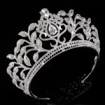 New Alloy Leaf Shaped Tiara Crown Headband Bridesmaid Hair <b>Jewelry</b> Bridal <b>Wedding</b> Hair Accessory