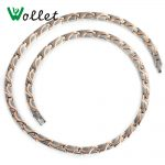 Wollet <b>Jewelry</b> Pure Titanium <b>Necklace</b> For Men Women Rose Gold Color Korean Design Health Energy Bio Magnetic