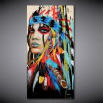 Women Statement Necklace <b>Jewelry</b> <b>Native</b> <b>American</b> legend Canvas Painting Living Room Home Decor Modern Mural Art Oil Painting#001