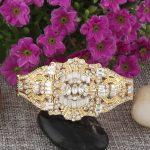 Bella Fashion The Great Gatsby Inspired Bridal Bangle Austrian Crystal Teardrop <b>Wedding</b> Bracelet For Women Party <b>Jewelry</b> Gift