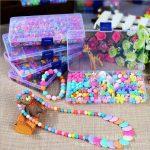 500 Pieces Kids Acrylic Craft Beads Set DIY <b>Jewelry</b> Creative Kit <b>Making</b> Necklace Earings Bracelet