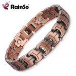 RainSo Men Magnetic Bracelets Red Copper Arthritis Therapy Health Care Bracelets <b>Fashion</b> Hologram <b>Jewelry</b> for Men OCB-738