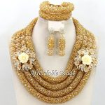 Hot Dubai Gold <b>Jewelry</b> Set Nice African <b>Jewelry</b> Set <b>Handmade</b> Design Wholesale Free Shipping BN572