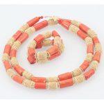 Dubai Wedding Coral <b>Jewelry</b> Quality Men Real Coral Bead <b>Jewelry</b> Set 50 inches Long Coral <b>Necklace</b> Bracelet for Groom ABH555