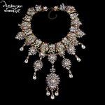 Dvacaman Brand Hotsale <b>Handmade</b> Crystal Choker Necklace Women Fashion Flower Statement Necklace Engagement Show Party <b>Jewelry</b> O5