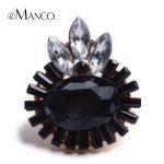 New fashion multicolor crystal big rings for women 2016 eManco brand special three horse eye design <b>jewelry</b> <b>accessories</b> RG04319