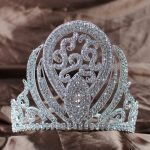 Luxurious Queen Crown Handmade Bridal <b>Wedding</b> 5″ Rhinestone Princess Full Circle Tiara Pageant Party Costumes Fashion <b>Jewelry</b>