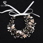CC <b>Wedding</b> <b>Jewelry</b> Hairband Headband Freshwater Pearl Elegant Fashion Flower Leaf Engagement Hair Accessories For Bridal hx192