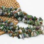 Natural India Onyx Irregular Beads 3Rows Necklace Chain <b>Jewelry</b> <b>Making</b> Girls Party Gifts 15inch Lucky Stone Gems Christmas gifts