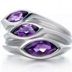 Hutang Stone <b>Jewelry</b> Natural Amethyst Gemstone Solid 925 Sterling <b>Silver</b> Leaf Ring Fine Fashion <b>Jewelry</b> For February Birthstone
