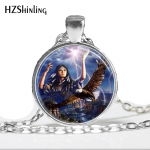 Fashion Necklaces For Women 2014 Vintage <b>Native</b> <b>American</b> Woman with Eagle Glass Dome <b>Jewelry</b> Necklace Pendant Eagle Necklace HZ1