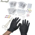 PiercingJ New Hot Selling 126pcs Stainless Steel Navel Nose Tongue Eyebrows Ring & Piercing <b>Supplies</b> Kits