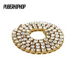 New Design Men's Hip Hop <b>Jewelry</b> Bling Iced Out Gold Chain 8MM 1 Row <b>Necklaces</b> Luxury Brand Gold Planted Men Chain <b>Necklace</b>