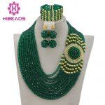 Splendid Nigerian Wedding Beads Jewellery Set Choker <b>Necklace</b> Set African Women Bridal <b>Jewelry</b> Set New Free Ship GS217