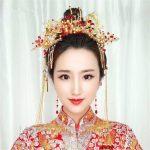 <b>Handmade</b> Long Tassel Vintage Brides Hair Accessories Red Crystal Chinese Classical Wedding Headdress <b>Jewelry</b> Hair Combs Hairwear