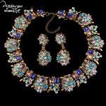 Dvacaman 2016 Luxury Femme Bijoux Crystal Flower Indian Wedding Bridal <b>Jewelry</b> Sets Women Statement Accessories Promotion A31