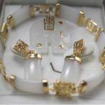 Prett Lovely Women's Wedding Title511 <b>Jewelry</b> White gem pendant necklace earring bracelet set+ chain 5.23 silver-<b>jewelry</b> mujer