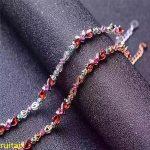 KJJEAXCMY fine jewelry 925 pure <b>silver</b> inlaid with Natural Crystal Garnet <b>Bracelet</b>, gold and <b>silver</b> jewelry