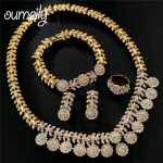 OUMEILY Dubai Wedding <b>Jewelry</b> Sets For Women Brides 2018 Luxury Crystal African Beads Round Crystal Gold Color <b>Jewelry</b> Set