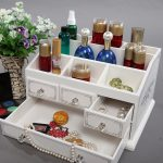 2018 Top <b>Fashion</b> Organizador Wooden Large Table Top Dressing Cosmetics Storage Box Of The First Of Makeup Organizer Of <b>Jewelry</b>