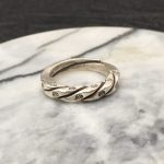 Solid Thai Silver 925 Twisted Square Band Cuff Ring Women Simple Brief Style <b>Handmade</b> 925 Sterling Silver <b>Jewelry</b> Thin Band Ring