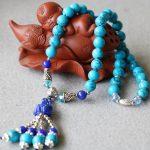 New 8mm Burst Pattern Blue Turkey Stone Bracelets Tassels Pendant Female Bracelets Multilayer Chain Natural Stone <b>Jewelry</b> <b>Making</b>