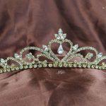 Heart Brides Tiaras Clear Rhinestones Crystal Diadem Wedding Bridal Crowns Handmade Gold Headband Girl Hair <b>Jewelry</b>