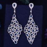 GODKI Luxury Trendy Tassel Drop Full Mirco Paved Cubic Zirconia Engagement <b>Wedding</b> Drop Earring Fashion <b>Jewelry</b>