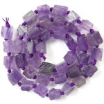 Free Shipping!!! 1 strand(Approx:37Pcs)Natural Raw stone Natural Amethysts Loose Bead 15.5 inch M154 For <b>Jewelry</b> <b>Making</b>