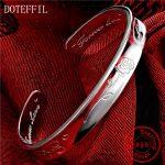 Authentic Solid 925 Sterling <b>Silver</b> <b>Bracelet</b> Rose Bangles Woman Fashion Charm Letter Love <b>Bracelet</b> Gift Jewelry <b>Silver</b> 22g