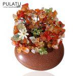 PULATU Original <b>Handmade</b> Bunch Brooches DIY Natural Stone Pendant Women Coat Scarf Brooch Pins Bride Wedding Accessories <b>Jewelry</b>