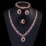 Luxury Fashion <b>Jewelry</b> Set Pendant Necklace and Earring Ring bracelet Set of shiny crystal from Austrian suitable