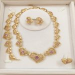 KINGDOM MA Imitated Crystal <b>Jewelry</b> Sets For Women African Beads Dubai Party Wedding Bridal Luxury Heart Necklace <b>Accessories</b>