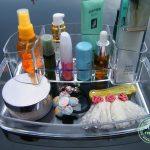 Popular 2015 makeup organizer storage box chef basket desktop office <b>supplies</b> stationery <b>jewelry</b> ornaments transparent crystal
