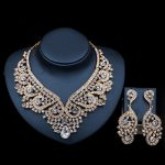 2017 LAN PALACE dubai gold jewellery austrian crystal <b>necklace</b> and earrings <b>jewelry</b> set india <b>jewelry</b> free shipping