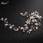 Miallo Newest Fashion <b>Handmade</b> Blossom Headpiece Wedding Pearls Headbands Bridal <b>Jewelry</b> Hair Accessories for Women Hairstyle