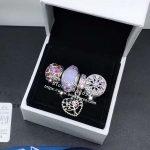 4pcs <b>Jewelry</b> Set S925 Silver Pink CZ Heart The Mother Tree Dangle Charms Beads Fit DIY Bracelet Necklaces <b>Jewelry</b> <b>Making</b> Woman