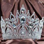 Magnificent Tiara Diadem Large Crown Clear Crystal Austrian Rhinestone Wedding Bridal Pageant Prom Party Headband Hair <b>Jewelry</b>